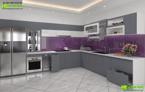 Tủ bếp Acrylic BAE11E16-02