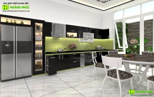 Tủ bếp Arylic  BAP02-01