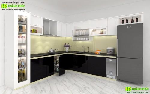 Tủ bếp Acrylic BAP02E11-02