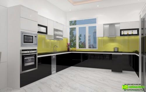 Tủ bếp Acrylic BAP02E11-03