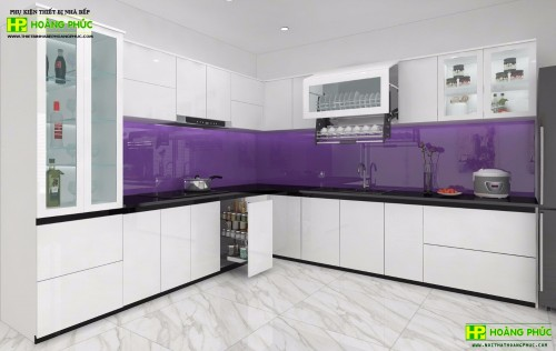 Tủ bếp Acrylic BAE11-04