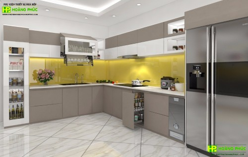 Tủ bếp Acrylic BAE11E17-02